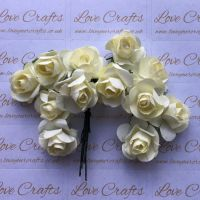 20mm Paper Flowers - Cream
