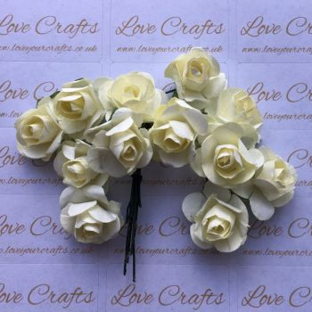 20mm Paper Flowers - Cream