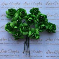 20mm Paper Flowers - Green