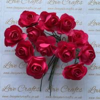20mm Paper Flowers - Hot Pink