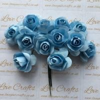 20mm Paper Flowers - Light Blue