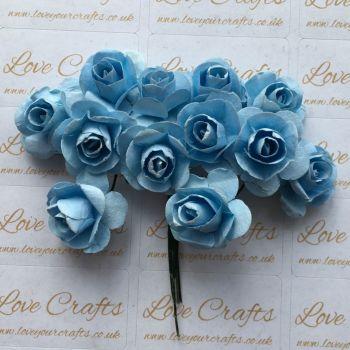 20mm Paper Flowers - Light Blue