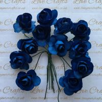 20mm Paper Flowers - Light Navy