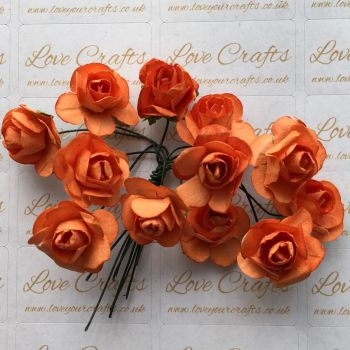 20mm Paper Flowers - Orange