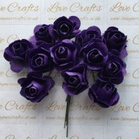 20mm Paper Flowers - Purple