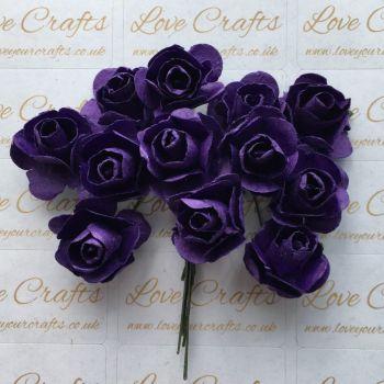 20mm Paper Flowers - Purple