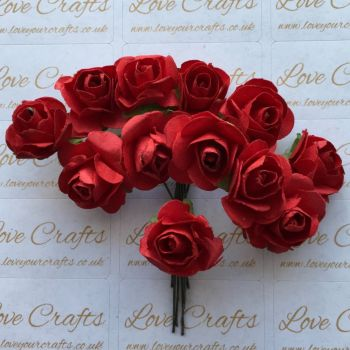 20mm Paper Flowers - Red