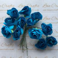 20mm Paper Flowers - Turquoise