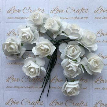 20mm Paper Flowers - White