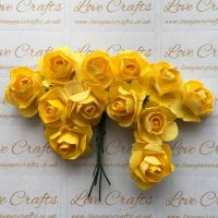 20mm Paper Flowers - Yellow