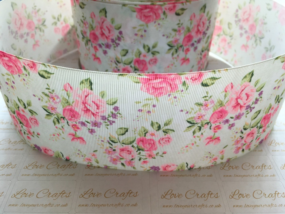 Kimmy Floral Grosgrain Ribbon
