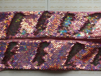 "3"" AB Pink/AB Silver Sequin Change Ribbon"
