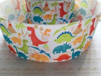 NEW Dinosaurs Grosgrain Ribbon