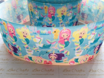 NEW Mermaids Grosgrain Ribbon