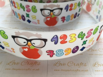 School/Number Grosgrain Ribbon