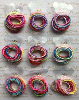 NEW 10 Pack Mixed Thin Hair Bobbles