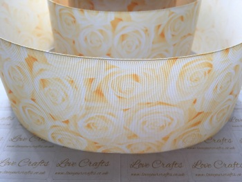 Antique White Rose Grosgrain Ribbon