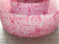Geranium Pink Rose Grosgrain Ribbon