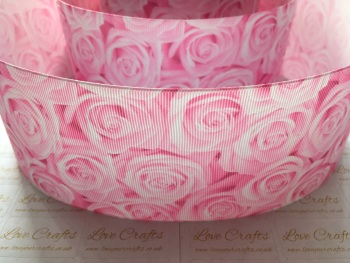 Geranium Pink Rose Grosgrain Ribbon