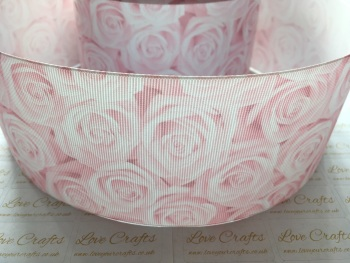 Icy Pink Rose Grosgrain Ribbon