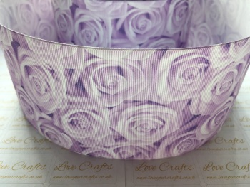 Light Orchid Rose Grosgrain Ribbon