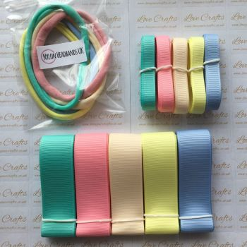 "3/8"" & 1"" Grosgrain Ribbon & Dainties Bundle 5"