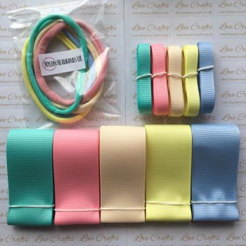 "3/8"" & 1.5"" Grosgrain Ribbon & Dainties Bundle 5"