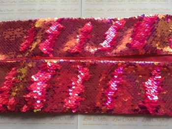 "3"" Pink Gold to Pink Sequin Change Ribbon"