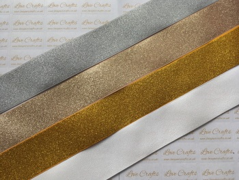 "1.5"" Glitter Grosgrain Ribbon"