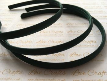 10mm Forest Green Satin Headband