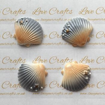 Gold & Silver Shell Resin