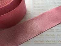 """3"""" Rose Pink Glitter Grosgrain Ribbon"""