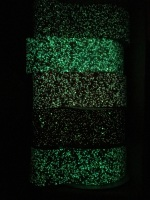 "3"" Glow In The Dark Glitter Fabric Ribbon"