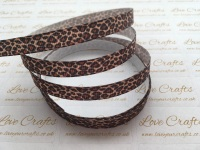 "3/8"" Leopard Print Grosgrain Ribbon"