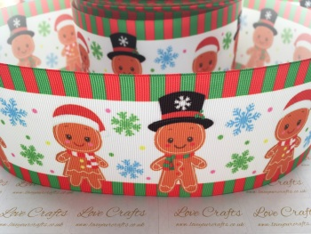 Gingerbread Cuties Grosgrain Ribbon
