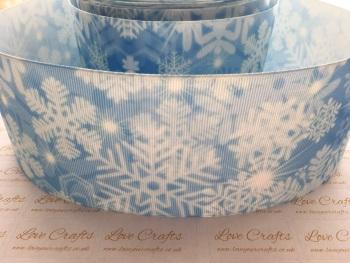 Snowflake Grosgrain Ribbon