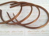 10mm Brown Satin Headband