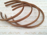 10mm Light Brown Satin Headband