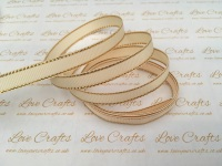Cream with Gold Edge Grosgrain Ribbon