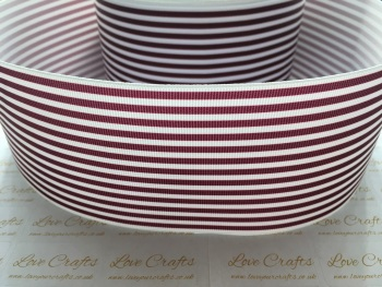 Burgundy Pinstripe Grosgrain Ribbon