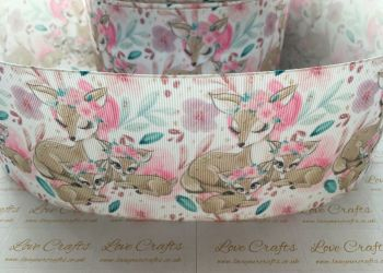 Deer Love Grosgrain Ribbon