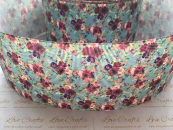 Lacey-Mae Floral Grosgrain Ribbon