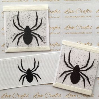 LC Vinyl - Medium Black Glitter Spider