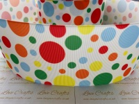 Coloured Spots Grosgrain Ribbon