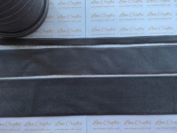 #017 Metal Grey Velvet Ribbon