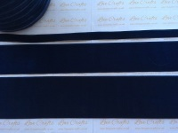 #370 Navy Velvet Ribbon