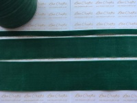 #587 Forest Green Velvet Ribbon