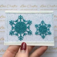 Aqua Glitter Snowflake Vinyl - design 1 - set of 2