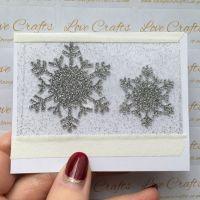 Silver Glitter Snowflake Vinyl - design 1 - set of 2