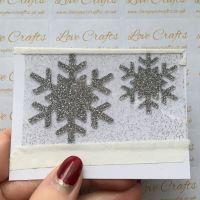 Silver Glitter Snowflake Vinyl - design 2 - set of 2